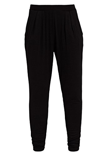 Even&Odd Damen Sporthose lang für Fitness-Training, Yoga & Pilates in Schwarz, M
