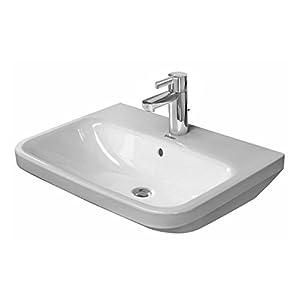 Duravit Waschtisch DuraStyle 65cm mit Überlauf, mit Hahnlochbank, 1 Hahnloch, Color: Blanco – 2319650000