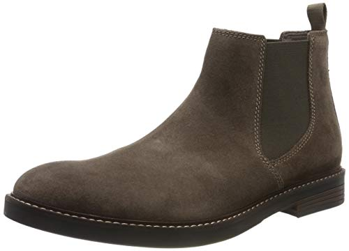 Clarks Paulson Up, Botas Chelsea para Hombre, Gris Taupe Suede Taupe Suede, 41.5 EU