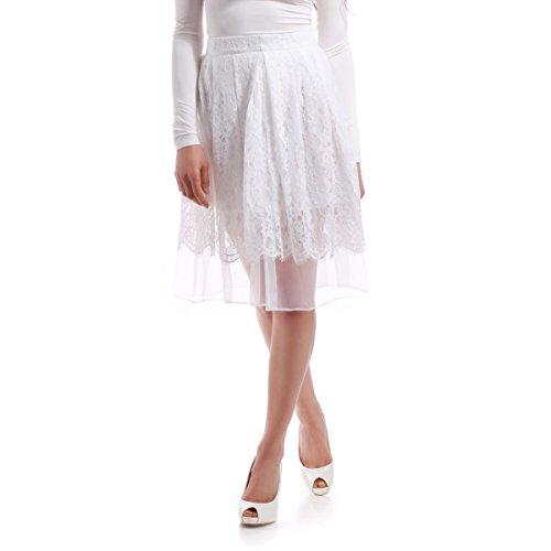 La Modeuse - Jupe dentelle et voile femmeDoublure intérieure à demi-opaque Blanc
