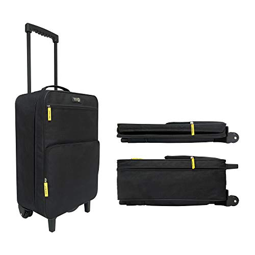 Travel Ready 2-Wheel Ultra Lightweight Collapsible Carry On Trolley Luggage. Made of High Tensile Strength Materials. Approved for Indigo, SpiceJet, Indian Airlines and All The Major Airlines