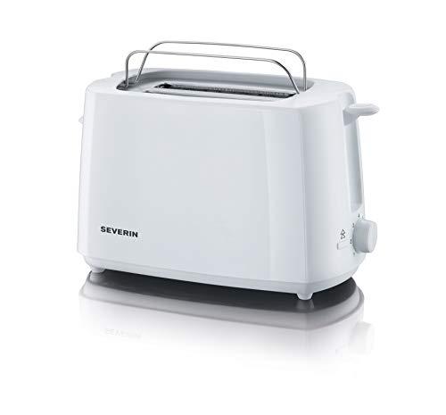 SEVERIN Automatik-Toaster, Inkl. Brötchen-Röstaufsatz, 2 Röstkammern, 700 W, AT 2288, Weiß
