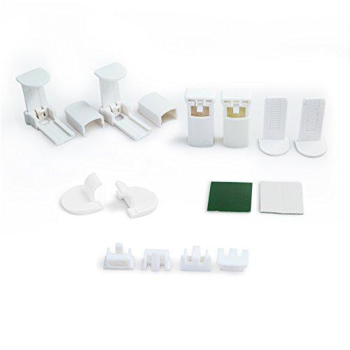 OUBO Montage Set für Klemmfix Plissee inkl. 4 Stück Klemmträgern Weiß