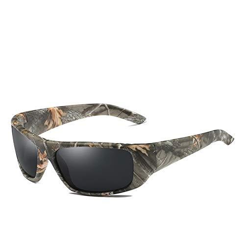 TYJYB Camouflage Sport Reiten Sonnenbrille Angeln Polarisierte Sonnenbrille Farbfilm Polarisierte Brille (A02)