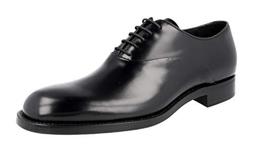 Prada PCU010 Herren Leder-Business-Schuhe, Schwarz (schwarz), 43 EU - Prada Kleid Männer Schuhe