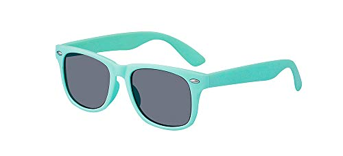 ALWAYSUV Kinder Bequem Polarisierte Sonnenbrillen für Jungen und Mädchen Alter 3-10 Brillenfassung Hellblau