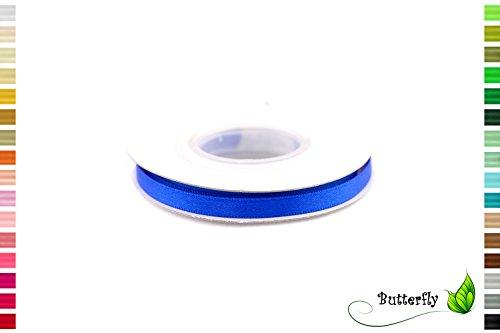 iges Satinband 6mm ( blau 352 / königsblau / royalblau ) // Geschenkband Schleifenband Dekoband Dekoration Hochzeit Taufe Geburtstag Deko Band doppelseitig (Butterfly 1. Geburtstag Dekorationen)