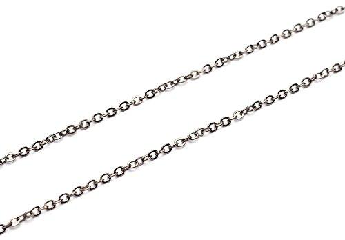 Beads unlimited 2 mm in catena, Confezione da 1 M, antico di gold_parent, Black Antique