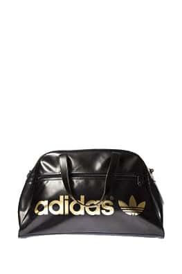 adidas Fitnesstasche Adicolor Holdall, Schwarz/Gold, 49 x 28 x 16 cm, 29 Liter, Z37333
