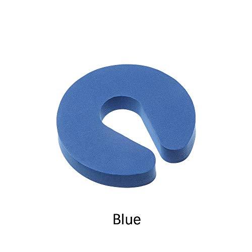 Xuntung 4PCS Neu Clip der Tür Schaum Schlafzimmer mit Küche Wache Schützen der Finger Sicherheit für Kinder Türstopper (Blau)