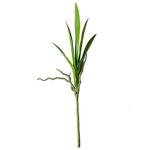 Jarown plantes artificielles Feuilles vertes Faux Orchidée Cymbidium branches Bouquet
