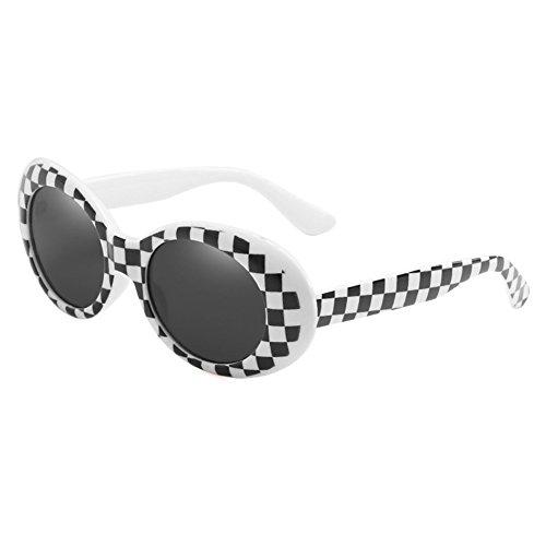 Highdas Clout Brille Oval Sonnenbrille Frauen Männer Gespiegelte Brille Retro Sonnenbrille UV400 Brillen C6