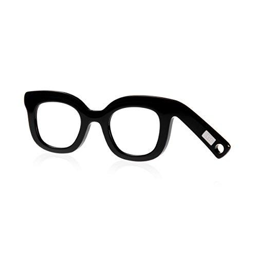 Handbrille Helgoland, Neuheit, Lesehilfe für modebewusste Frauen, Farbe Night Black, 1.5 dpt