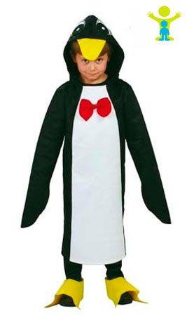 Kinder Antarktis Kostüm - Pinguin - Kostüm für Kinder Gr. 110 - 146, Größe:140/146