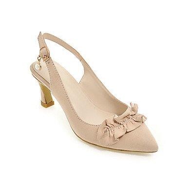 LvYuan Da donna-Sandali-Matrimonio Formale Serata e festa-Club Shoes-Quadrato-Felpato-Nero Grigio Beige gray