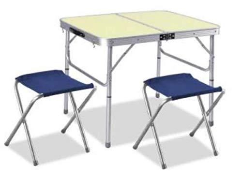 Bakaji tavolino da campeggio con telaio in alluminio tavolo pic