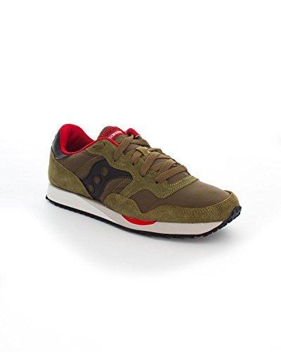 SAUCONY uomo sneakers basse S70124-9 DXN TRAINER 44 Verde-Nero