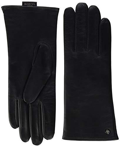 Roeckl Damen Classic Wool Handschuhe, Schwarz (Black 000), 7 Damen Nylon-handschuhe