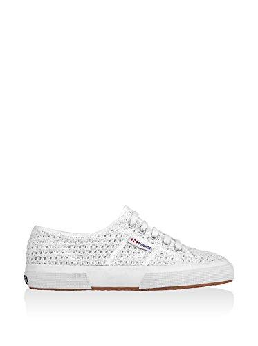 Superga 2750 Crochet Turnschuhe Neu Frauen Schuhe White