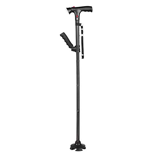 Walking Stöcke Leicht Zusammenklappbar Teleskop-Faltrohr Outdoor Trekking-Pol Aluminium Walking Aids Mit LED-Licht (Teleskop-pol-füße)