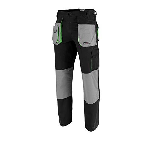 Krexus Pantaloni da Lavoro Uomo Nero/Grigio Taglia S