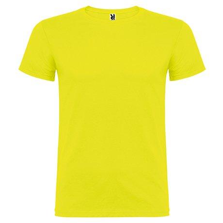 Camiseta de manga corta, de cuello redondo -Roly (5/6, AMARILLO)