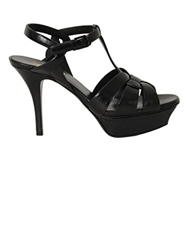 Saint-Laurent-Womens-4577550MI001013-Black-Leather-Sandals