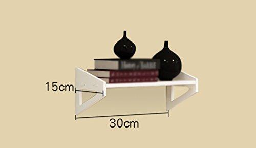 Grjh® rack, sulla parete scaffale mensola appendente camera da letto decorazione fiori scaffali sala soggiorno scaffale parete parete divisorio divisorio non punch studente impermeabile e resistente ( dimensioni : 30 centimetri )