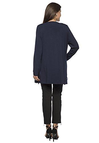 Jerseyjacke Rundhals Nachtblau