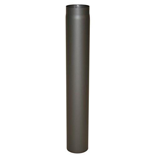 Ofenrohr Senotherm® 2 mm Ø 150 mm hitzebeständig lackiert, gerade - Rauchrohr, Kaminrohr gussgrau - für Pellettofen und Kamine - Länge: 1000 mm