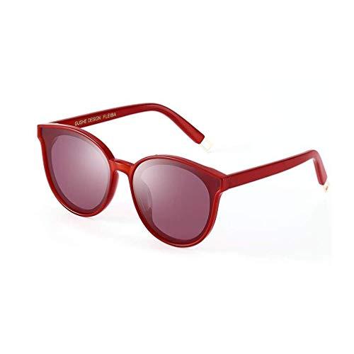 KISlink Frau Sonnenbrille, Retro Vintage Sonnenbrille im klassischen Stil (Farbe: Rot) (Augen Brille Rote Frau)