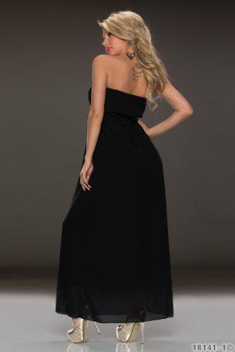 Fashion4Young 5976 robe longue moulante pour femme style de robe en dentelle disponible dans 4 coloris taille s/m Noir - Noir