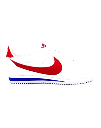 Nike Classic Cortez Leather, Zapatillas de Running para Hombre, Blanco (Blanco (White/Varsity Red-Varsity Royal)), 42 EU