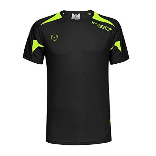 Maglia a Manica Corta Compression da Uomo Sport Baselayer Asciugatura Rapida T-Shirt Slim Fit Maglietta Bodybuilding Top Poliestere e Spandex