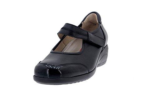 Chaussure femme confort en cuir Piesanto 5990 babies comfortables amples Noir