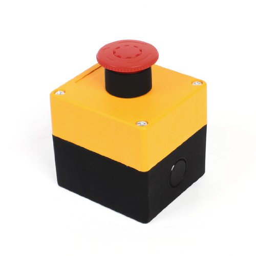 Aexit AC 380V 10A Not Stop Kunststoff Box Cover Push Button Switch (Switch Cover Box)