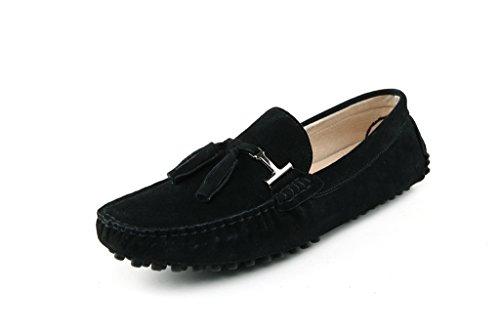 Men's Minitoo Nouvelle chass'en daim pour chaussures bateau Loafers Penny de conduite Nero (nero)