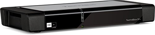TechniSat TECHNIBOX S1+ HD Sat-Receiver mit Single-Tuner für Empfang in HD, Ethernet, LED-Display, PVR-Aufnahmefunktion und Timeshift, inkl. HD+ Smartcard, Schwarz