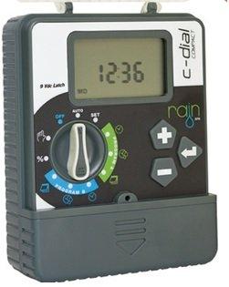 Centralina Rain 'Compact-Dial' Prodotto Di Alta Qualità E Facilità Di Utilizzo. Modello Con Trasformatore Esterno. Ampio Display, Facile Programmazione Con Selettore E Simboli. A 2 Cicli Di Irrigazione Indipendenti. Tempi D'Irrigazione Da 1 A 240 Minuti P