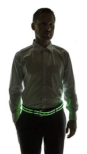 NEON NIGHTLIFE Männer leuchten LED Gürtel, Groß, 36-43 Zoll Taille Größe, Grün