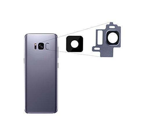 ★ RM ★ para Samsung Galaxy S8Cámara Lente Cámara Lente Cristal Lens con marco lente Orchid Gray Titanio Gris Grey para Notebook ★ RM ★
