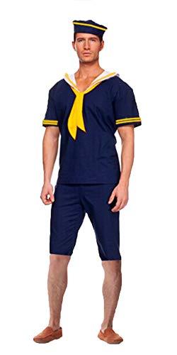 BESTHOO Halloween-Kleid Halloween Cosplay Party Kostüm blau Seemann männlich dunkelblau Anzug Halloween Kostüm männlichen Kapitän ()