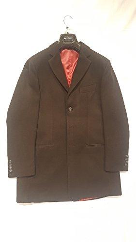Besilent - Cappotto uomo monopetto(3 bottoni) (52, grigio)