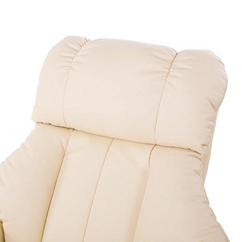 Homcom Massagesessel 700-008CW mit Heizfunktion inkl. Hocker Creme - 9