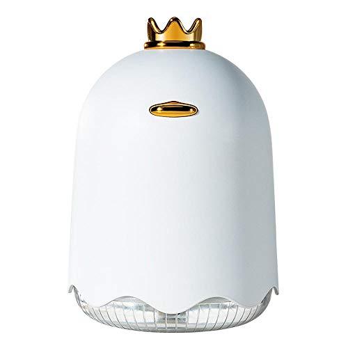 Crown Duck Luftbefeuchter mit USB Ladeanschluss Nachtlicht Mini Yellow Duck Luftreiniger Diving Duck Luftbefeuchter Weiß