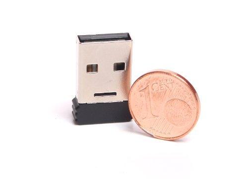 BIGtec Nano micro Bluetooth Mini USB Adapter Stick Dongle Class2 EDR V2.0 - Bluetooth Stick  Windows 7 / XP / Vista / 2000 Micro Mini Usb Bluetooth
