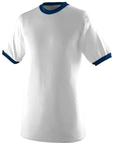 Augusta Herren T-Shirt Weiß/Marineblau