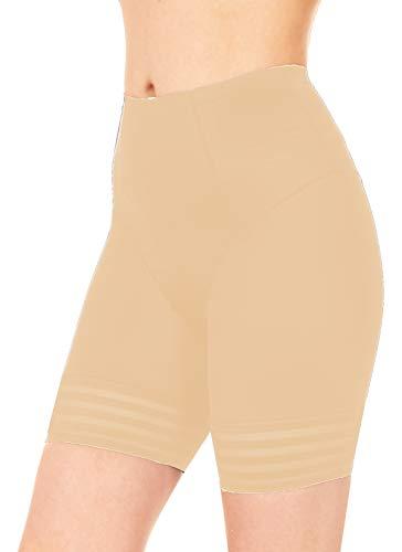 Black Fuchsia by Secret Lace Shapewear Shorts Oberschenkel Slimmer für Frauen Bauchkontrolle Shaper Bodysuit Hohe Taille Panty - Beige - X-Groß (High-waisted Shaper Panty)