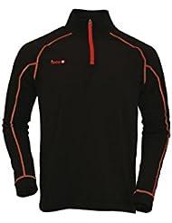 Izas Gorner - Forro polar para hombre, color negro / rojo, talla XL