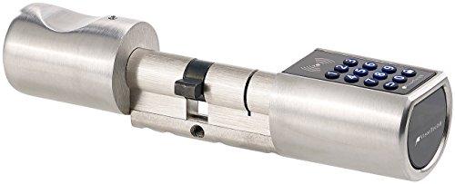 VisorTech Türschloss: Elektronischer Tür-Schließzylinder, Transponder-Schlüssel, Zahlen-Code (Tür Schließzylinder mit Transponder Schlüsseln Zahlen Codes)